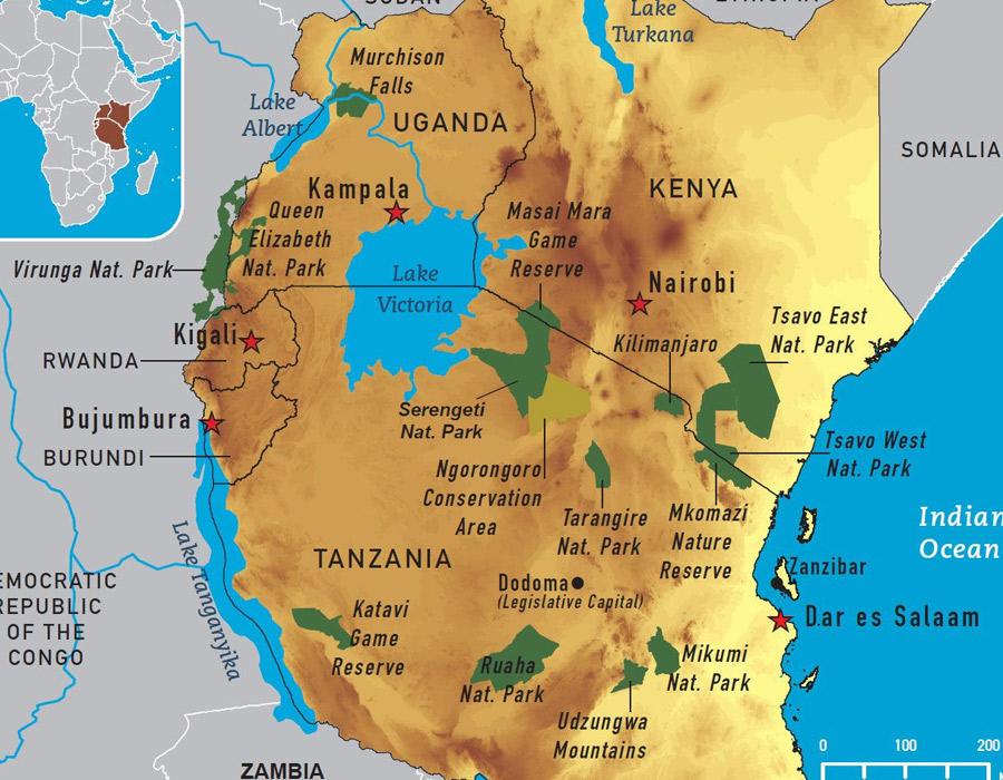 Tanzania Map